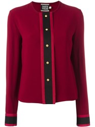 Fausto Puglisi Collarless Shirt Red