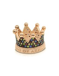 Azhar Re Silver And Zircon Crown Ring Gold