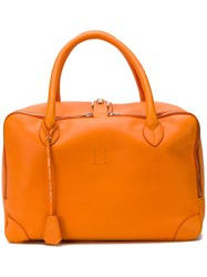 Golden Goose Deluxe Brand Large Zipped Tote Bag Yellow And Orange