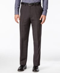 Haggar Eclo Windowpane Straight Fit Dress Pants Charcoal