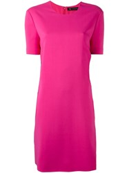 Versace Abstract Panel Cady Dress Pink And Purple