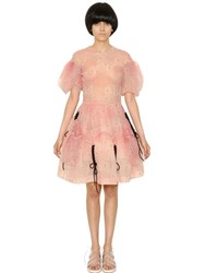 Simone Rocha Flower Printed Tulle Dress