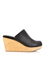 Rachel Comey Warren Leather Wedge Clogs