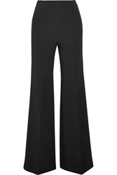 Roland Mouret Axon Stretch Crepe Wide Leg Pants Black