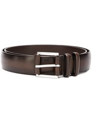 Orciani Gradient Buckled Belt Brown