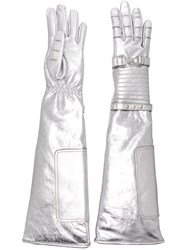 Calvin Klein 205W39nyc Quilted Gloves Metallic