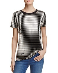 N Philanthropy Fox Stripe Tee Black White Magic