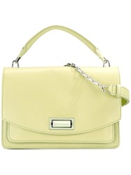 Max Mara Flap Front Shoulder Bag Green