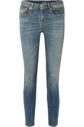 R 13 R13 Alison Mid Rise Skinny Jeans Blue