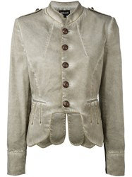 Just Cavalli Military Jacket Women Cotton Spandex Elastane 40 Nude Neutrals