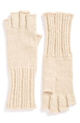 Caslonr Women's Caslon Knit Fingerless Gloves Cream Combo