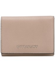 Givenchy Logo Plaque Wallet Women Goat Fur One Size Nude Neutrals
