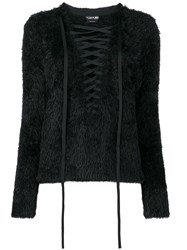 Tom Ford Lace Front Sweater Black