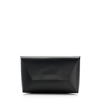 J.Crew Leather Envelope Clutch Black