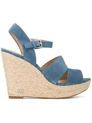 Michael Michael Kors Strappy Wedge Sandals Blue