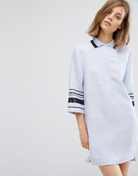 Wood Wood Caitlin Stripe Arm Shirt Dress Kentucky Blue