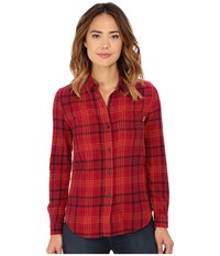 Vans Adolescence Flannel Top Rumba Red Women's Long Sleeve Button Up