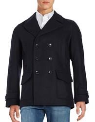Michael Kors Double Breasted Peacoat Officer Navy