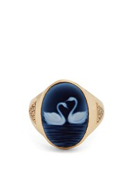 Jacquie Aiche Diamond Agate And Yellow Gold Ring