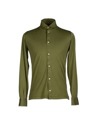 Fedeli Shirts Shirts Men Military Green