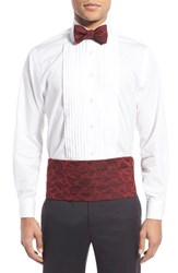 David Donahue Men's Silk Cummerbund And Bow Tie Set