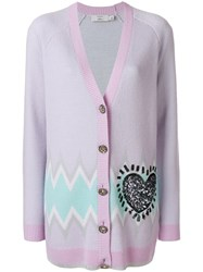Coach X Keith Haring Long Cardigan Pink And Purple