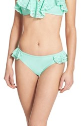 Junior Women's Bp. Eyelet Ruffle Bikini Bottoms