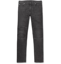 Belstaff Skinny Fit Panelled Stretch Denim Jeans Gray