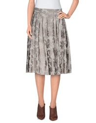 Giorgia And Johns Knee Length Skirts Light Grey