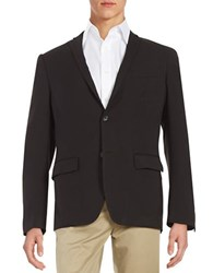 Perry Ellis Slim Fit Two Button Jacket Black