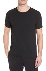 Alo Yoga 'S The Triumph Crewneck T Shirt Solid Black Triblend