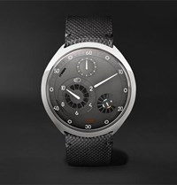 Ressence Type 2G Mechanical 45Mm Titanium And Leather Watch With Smart Crown Technology Gray