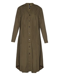 Y's By Yohji Yamamoto Button Through Cotton Shirt Dress