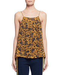 Etoile Isabel Marant Bronson Floral Silk Camisole Yellow