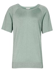 Reiss Tessie Cropped Top Pink Grey