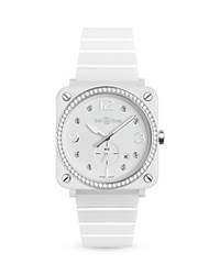 Bell And Ross Br S White Ceramic Diamond Watch 39Mm