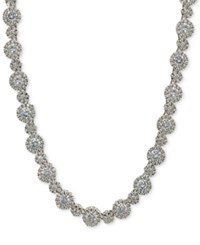 Giani Bernini Cubic Zirconia Link Collar Necklace In Sterling Silver Created At Macy's