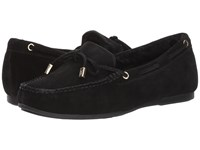 Michael Michael Kors Sutton Moc Black Sport Suede Real Shearling Shoes