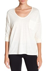 Threads For Thought Clementine Long Sleeve Burnout Tee White
