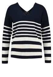 Banana Republic Milano Jumper Preppy Navy Dark Blue