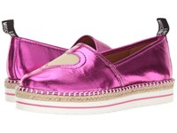 Love Moschino Metallic Heart Espadrille Pink Women's Shoes
