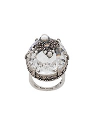 Alexander Mcqueen Spider Droplet Ring Silver