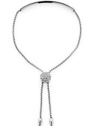 Love Rocks Bar Lariat Bracelet Silver