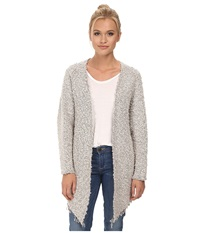 Maison Scotch Throw On Longer Length Knitted Cardigan White Women's Sweater