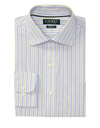 Lauren Ralph Lauren Classic Fit Striped Dress Shirt Gentry Blue