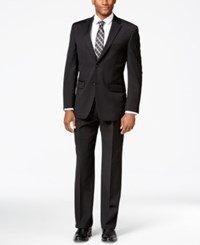 Tommy Hilfiger Black Solid Classic Fit Suit