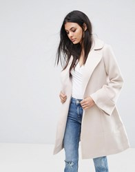 Lipsy Wrap Coat With Bell Sleeve Tan