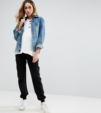 Asos Maternity Basic Joggers With Tie Black