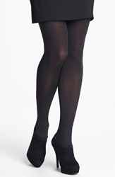 Donna Karan 'Evolution' Satin Jersey Tights Black