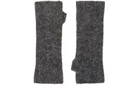 Isabel Marant Women's Cruz Fingerless Gloves Dark Grey Grey